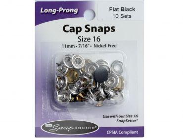 flat black size 16 snaps