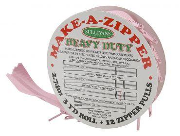 heavy duty pink custom zipper