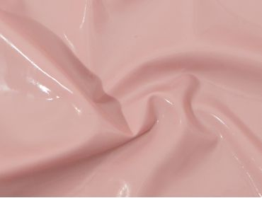 Baby pink latex sheeting with shine.