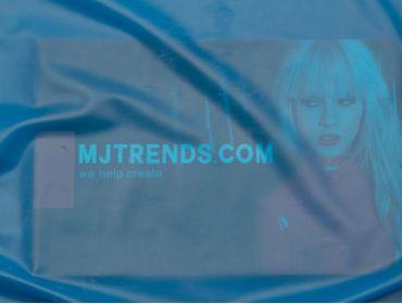 Transparent blue latex sheeting.