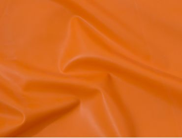 Orange latex rubber fabric.
