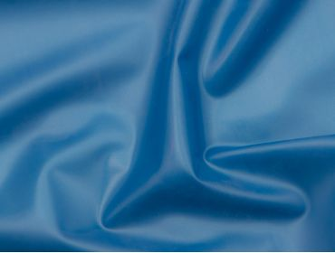 Metallic blue latex rubber sheeting.