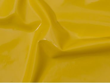 Yellow latex sheeting.