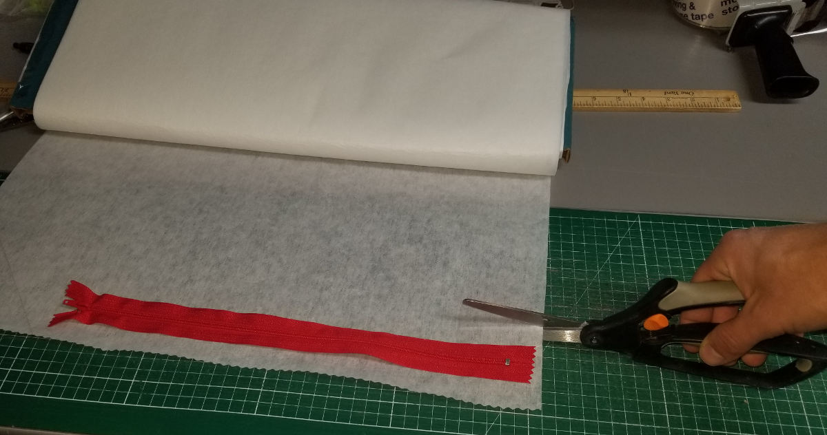 Cut out interfacing.
