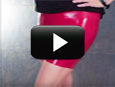 Womens latex miniskirt video instructions and tutorial