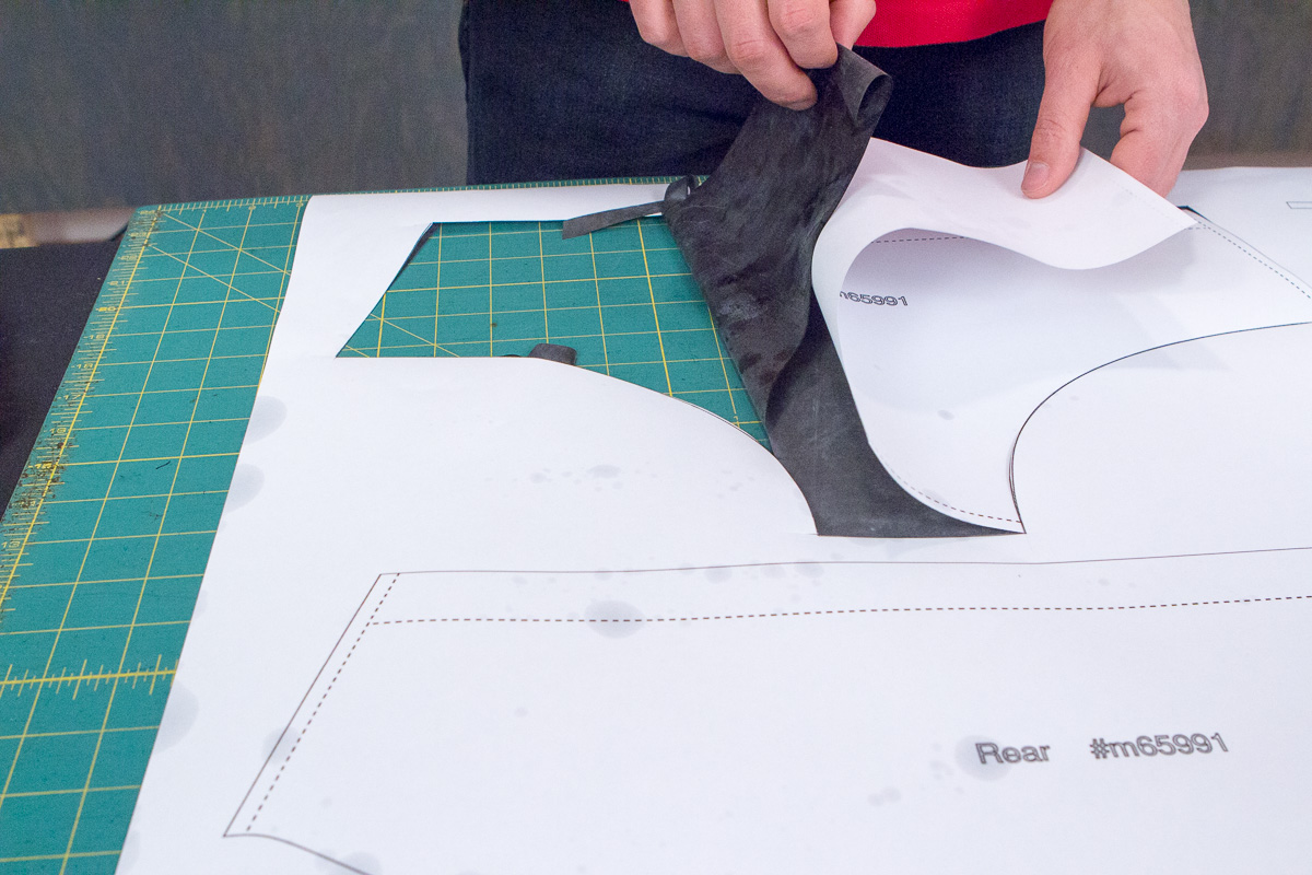 Pulling up cut-out piece