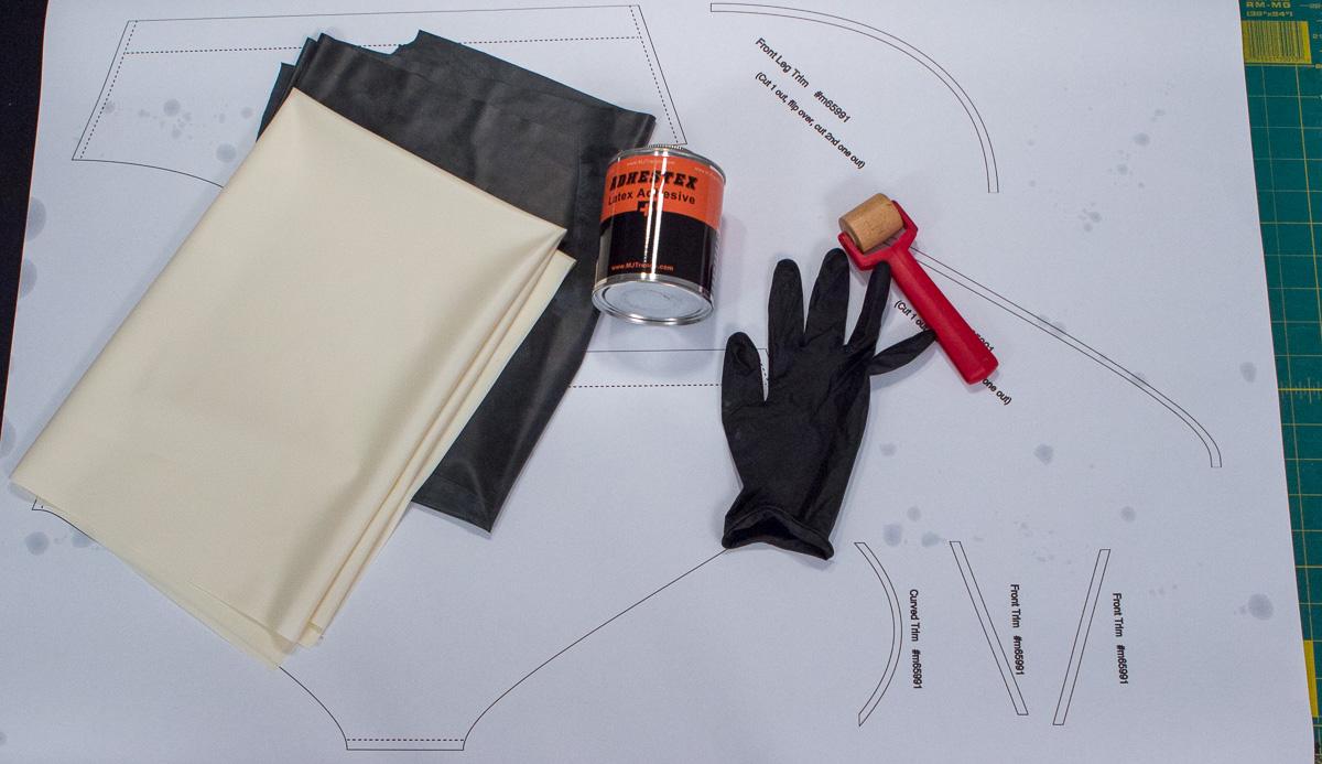 Supplies for making mens latex underwear