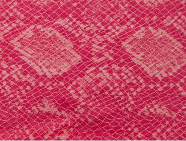 Faux pink snakeskin print fabric.