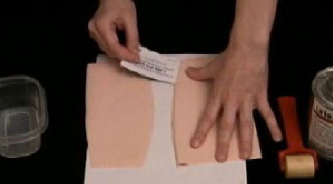 How to make a curved latex seam