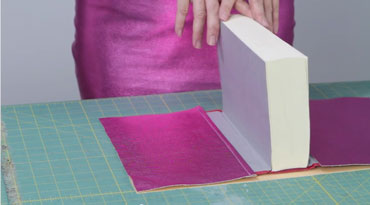DIY Pink Snakeskin Book Cover