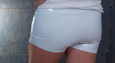 Stretch Vinyl short shorts tutorial
